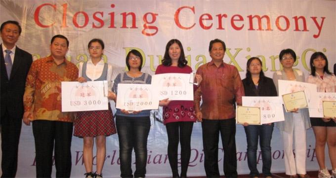 第12届世界中国象棋锦标赛于11月25日在印度尼西亚图片